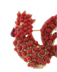 Dolce & Gabbana | Red Cockerel Brooch | Lyst