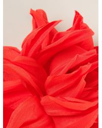 Erika Cavallini Semi Couture - Red Flower Brooch - Lyst