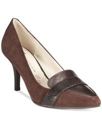 Anne Klein | Brown Youly Pointed Toe Pumps | Lyst