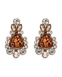 Givenchy | Metallic Rose Gold-Tone & Champagne Accented Earrings | Lyst