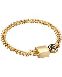 Marc By Marc Jacobs - Metallic Enamel Lock-In Bracelet - Lyst