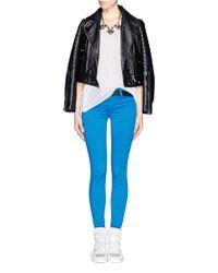 J Brand - Green Luxe Sateen Super Skinny Jeans - Lyst