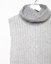 3.1 Phillip Lim - Gray Mohair Turtleneck Shell - Lyst