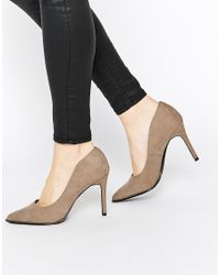 Call It Spring - Gray Scucina Nude Zip Heeled Pumps - Lyst
