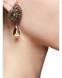 Erickson Beamon - Metallic 'hello Sweetie' Crystal Leaf Drop Earrings - Lyst
