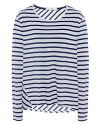 Rag & Bone | Blue Ash Striped Long Sleeved Top | Lyst