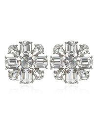 Ben-Amun | Metallic Crystal Flower Earrings | Lyst