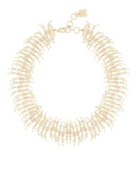 BCBGMAXAZRIA | Metallic Embellished Fringe Necklace | Lyst