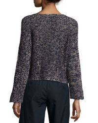 Eileen Fisher - Blue Fisher Project Rustic Crop Box Top - Lyst