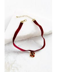 Urban Outfitters | Red Velvet Renaissance Choker Necklace | Lyst