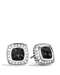 David Yurman - Petite Albion Earrings With Black Onyx & Diamonds - Lyst