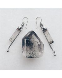 Maniamania | Metallic Idol Sterling Silver Earring | Lyst
