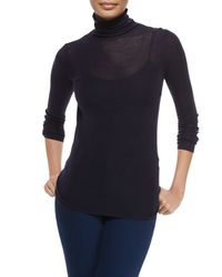Joie | Blue Cenelle Wool/silk Turtleneck Sweater | Lyst