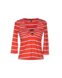Roccobarocco - Red T-shirt - Lyst