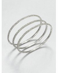 ABS By Allen Schwartz | Metallic Pavé Bangle Bracelet Set | Lyst