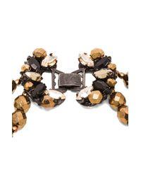 Erickson Beamon | Brown Golden Rule Necklace | Lyst
