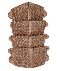 Vivienne Westwood | Brown Armor Pave Ring | Lyst