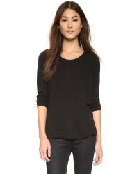 Sundry | Long Sleeve Raglan Sweatshirt - Black | Lyst