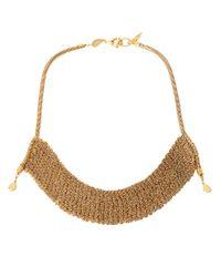 Diane von Furstenberg | Metallic Thea Mesh Drape Necklace | Lyst