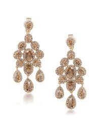 Carolee | Brown Desert Oasis Goldtone Clip-on Chandelier Earrings | Lyst