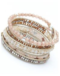 Nakamol | Multicolor Luminous Wrap Bracelet-cream Crystal | Lyst