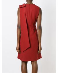 Valentino | Red Bow Detail Dress | Lyst