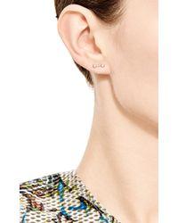 Sehti Na - Metallic Diamond Twin Stud Earring - Lyst