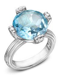 Slane | Metallic Calypso Blue Topaz Ring Size 7 | Lyst