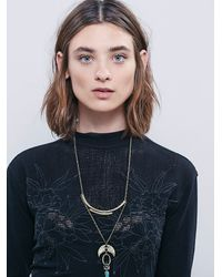 Free People | Black Primrose Tee | Lyst