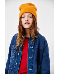 BDG - Orange Camp Fleece Stand Up Beanie - Lyst