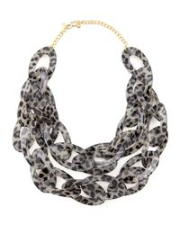 Kenneth Jay Lane - Multicolor Double-strand Leopard-print Enamel Necklace - Lyst