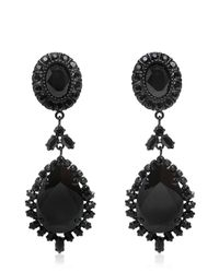 Givenchy | Black Crystal Pendant Earrings | Lyst