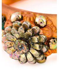 Jean Paul Gaultier | Orange 'mille Fiori' Cuff | Lyst