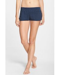 Spiritual Gangster - Blue Cotton Shorts - Lyst