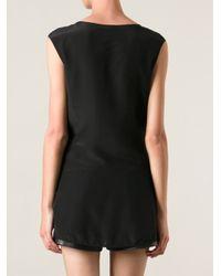 Pinko - Black Embellished Hem Top - Lyst