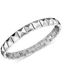 Calvin Klein | Metallic Edge Studded Stainless Steel Bracelet Kj3cmb000100 | Lyst