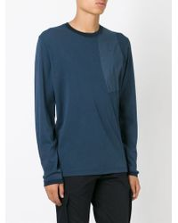 Stone Island - Blue Patch Detail Longsleeve T-shirt for Men - Lyst