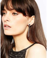 Pieces | Metallic Opal Earrings | Lyst