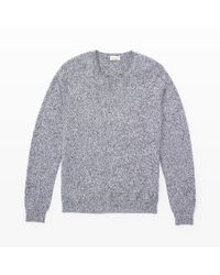 Club Monaco | Black Marled Cotton Crew for Men | Lyst