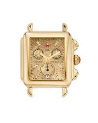 Michele - Metallic 'deco' Diamond Dial Watch Case - Lyst