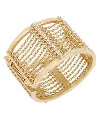 Kenneth Cole | Metallic Gold-tone Multi-chain Bangle Bracelet | Lyst