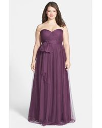 Jenny Yoo | Purple 'annabelle' Convertible Tulle Column Dress | Lyst