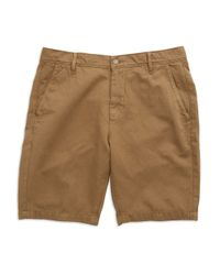 7 For All Mankind - Natural Solid Chino Shorts for Men - Lyst