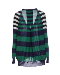 Erika Cavallini Semi Couture - Green Cardigan - Lyst