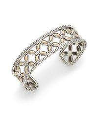 John Hardy | Metallic Kawung Sterling Silver & 18k Gold Cuff Bracelet | Lyst
