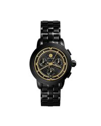 Tory Burch - Tory 37mm Black Ip Chronograph Watch - Lyst