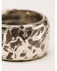 Henson | Metallic Hammered Ring | Lyst