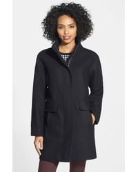 Vince Camuto | Black Wool Blend Coat | Lyst