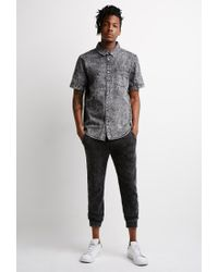 Forever 21 | Black Acid Wash Denim Shirt for Men | Lyst