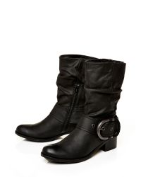 Moda In Pelle | Black Dominga Low Casual Short Boots | Lyst